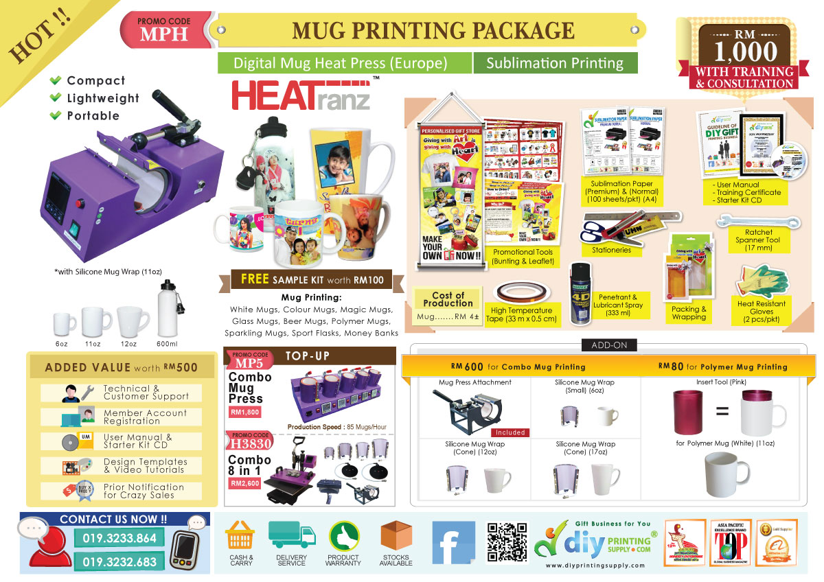 Print Photo Mug With Mug Printing Package