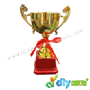 Sublimation Frames > Wooden Backholders & Trophies > Trophy Award (Gold) (20cm) with Aluminium Board