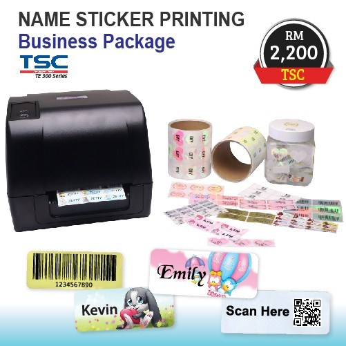 Name Sticker Printing Business Package