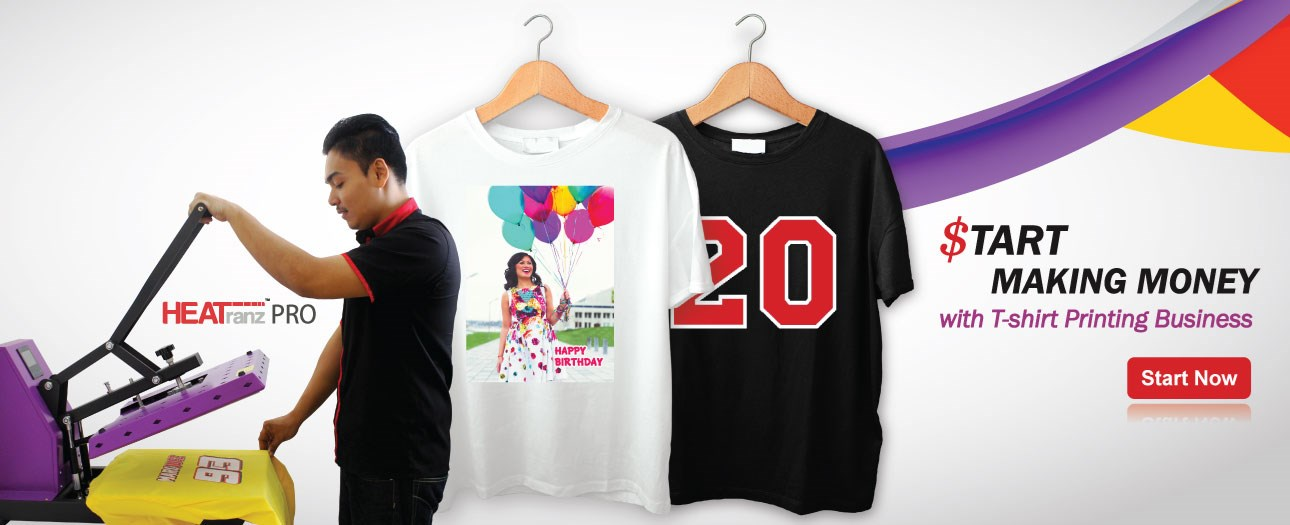 Pakej Perniagaan Percetakan T-shirt (B6)