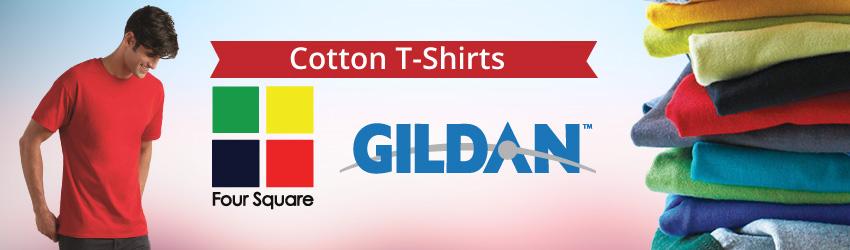 Cotton T-Shirts (Unisex) (Gildan) (Short Sleeve)