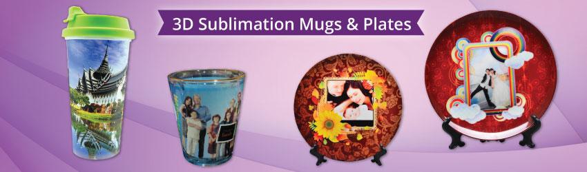 3D Sublimation Mugs & Plates