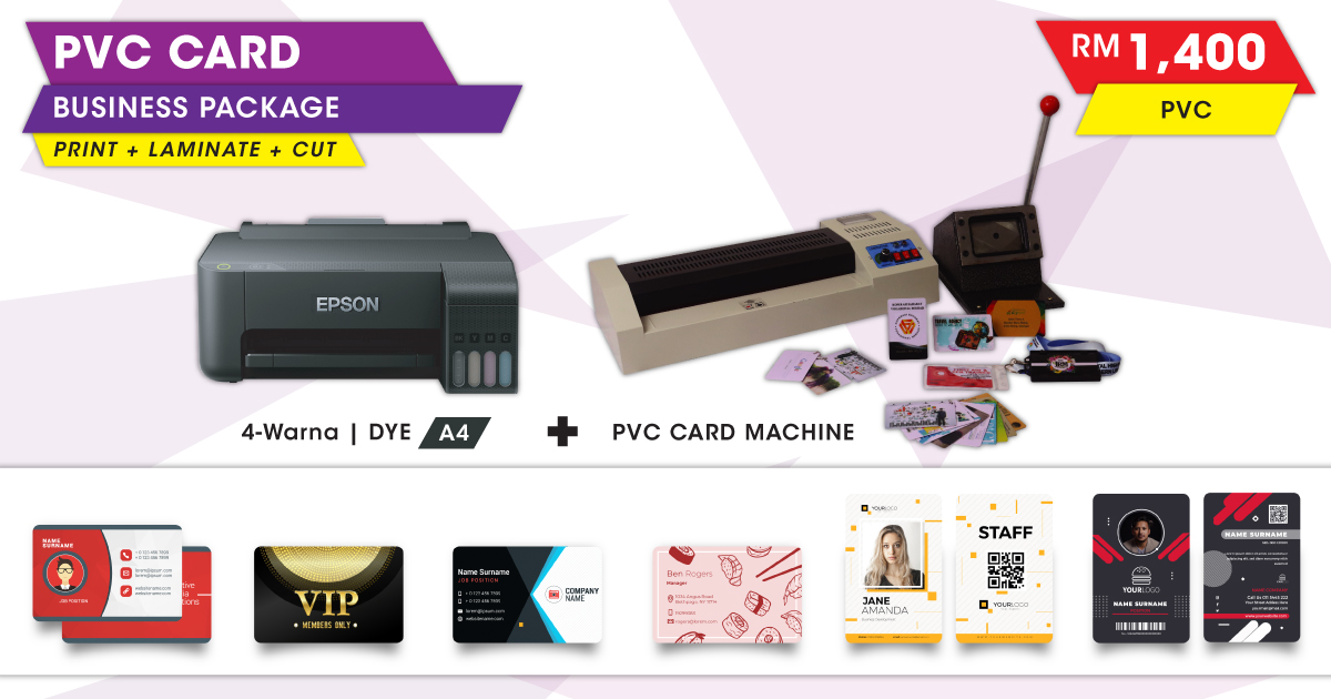 PVC Card Printing Business Package