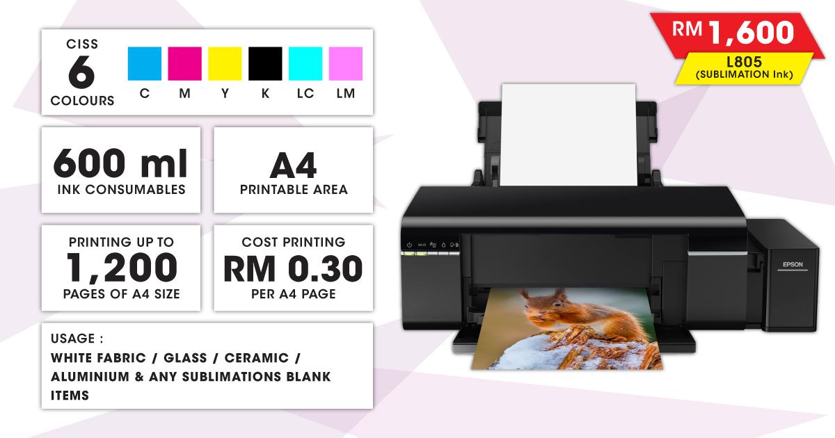 Epson Inkjet Printer (L805 SUB)