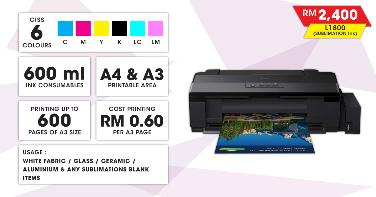 Epson Inkjet Printer (L1800 SUB)