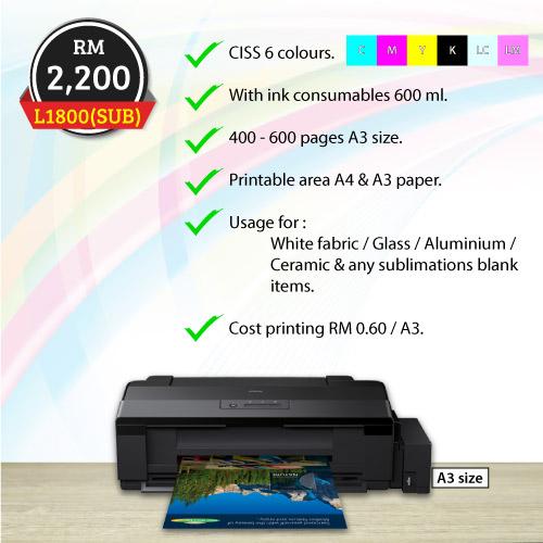 Epson Inkjet Photo Printer L1800 Best Price Malaysia