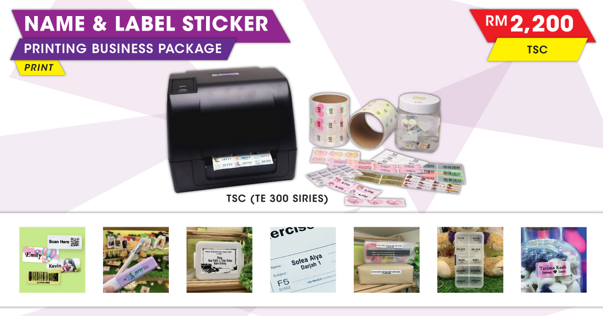Name Label Sticker Printing Business Package