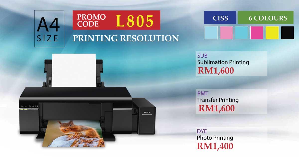 Epson Inkjet Photo Printer L805 Best Price Malaysia