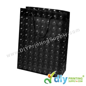 3D Paper Bag (L 24 X W 18 X H 7.5cm) (Black)