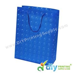 3D Paper Bag (L 24 X W 18 X H 7.5cm) (Blue)