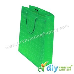 3D Paper Bag (L 24 X W 18 X H 7.5cm) (Green)