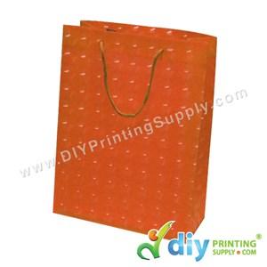 3D Paper Bag (L 24 X W 18 X H 7.5cm) (Orange)