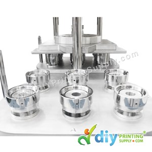 Button Badge Mould 6In1 (44mm) (Hydraulic)