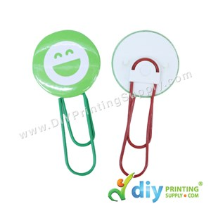 Button Badge Bookmark Clip With Mylar (Mixed Colours) (25mm) (100 ± Pcs/Pkt)