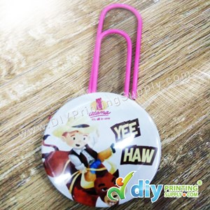 Button Badge Bookmark Clip With Mylar (Mixed Colours) (58mm) (100 ± Pcs/Pkt)