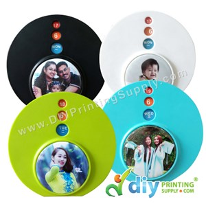 Button Calendar Card (Mixed Colours) (58mm) (12 ± Pcs/Pkt)