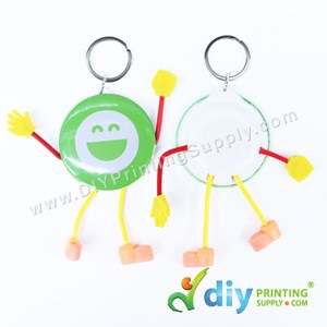 Button Badge Cartoon Keychain With Mylar (44mm) (50 ± Pcs/Pkt)