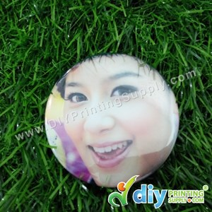 Button Badge Fridge Magnet With Mylar (58mm) (50 ± Pcs/Pkt)