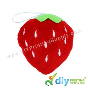 Button Badge Face Doll (Strawberry)
