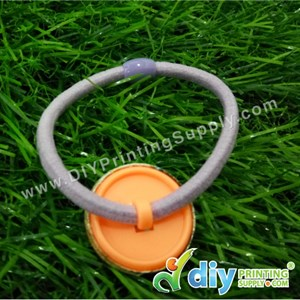 Button Badge Hair Band With Mylar (25mm) (50 ± Pcs/Pkt)