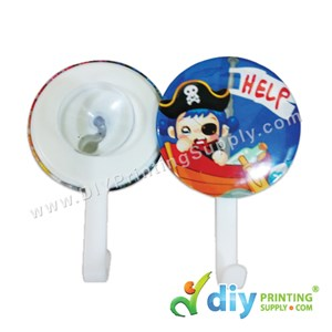 Button Badge Hanging Hook With Mylar & Suction Cup (58mm) (50 ± Pcs/Pkt)