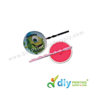 Button Badge Hair Pin With Mylar (25mm) (48 ± Pcs/Pkt)