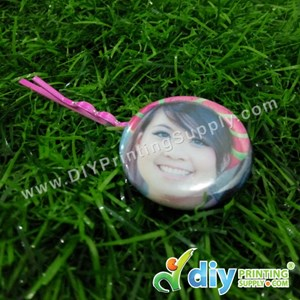 Button Badge Hair Pin With Mylar (32mm) (48 ± Pcs/Pkt)