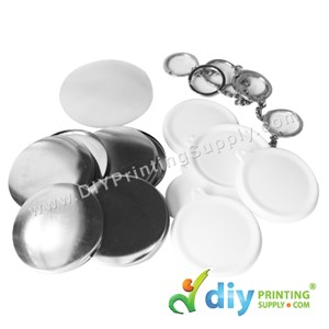 Button Badge Keychain With Mylar (44mm) (50 ± Pcs/Pkt)