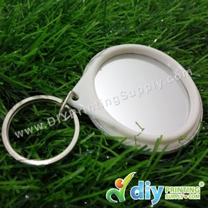 Button Badge Mirror Keychain With Mylar (44mm) (50 ± Pcs/Pkt)