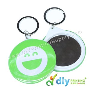 Button Badge Mirror Keychain With Mylar (58mm) (50 ± Pcs/Pkt)