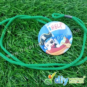 Button Badge Neck Lanyard With Mylar (58mm) (50 ± Pcs/Pkt)