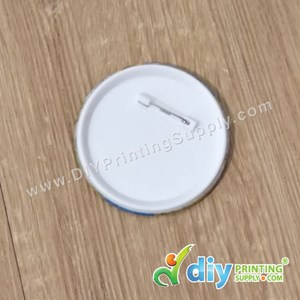 Button Badge Pin With Mylar (75mm) (100 ± Pcs/Pkt)