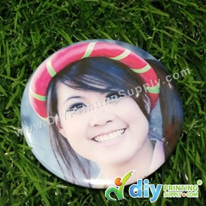 Button Badge Pin With Mylar (32mm) (100 ± Pcs/Pkt)