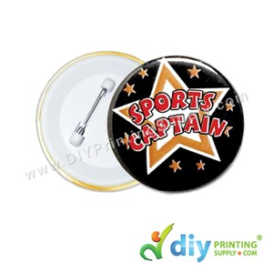 Button Badge Pin With Mylar (44mm) (100 ± Pcs/Pkt)