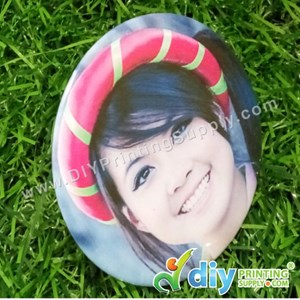 Button Badge Photo Stand With Mylar (75mm) (50 ± Pcs/Pkt)