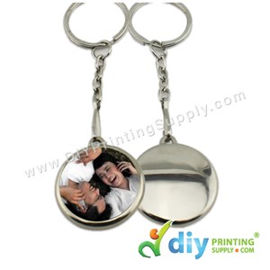 Button Badge Round Keychain With Mylar (25mm) (50 ± Pcs/Pkt)