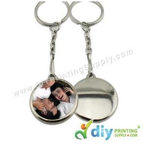 Button Badge Round Keychain With Mylar (32mm) (50 ± Pcs/Pkt)
