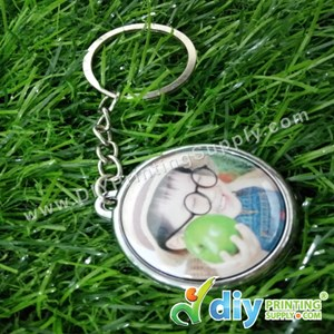 Button Badge Round Keychain With Mylar (32mm) (50 ± Pcs/Pkt)