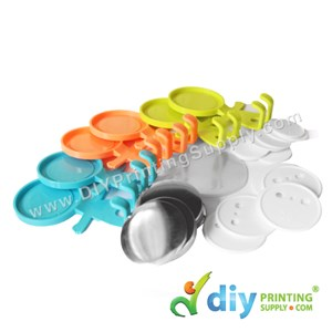 Button Badge Toothbrush Hanger With Mylar (Mixed Colours) (58mm) (30 ± Pcs/Pkt)