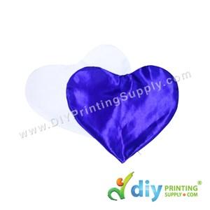 Cushion Cover (Love) [Satin] (Blue) (30 X 36cm)
