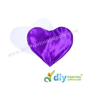 Cushion Cover (Love) [Satin] (Purple) (30 X 36cm)
