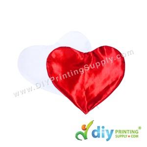 Cushion Cover (Love) [Satin] (Red) (30 X 36cm)