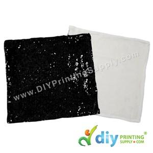 Cushion Cover (Square) (Sparkling Black) (40 X 40cm)