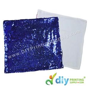 Cushion Cover (Square) (Sparkling Dark Blue) (40 X 40cm)
