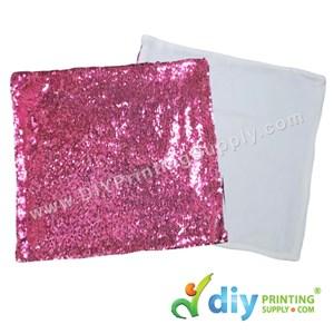 Cushion Cover (Square) (Premium Sparkling Pink) (40 X 40cm)