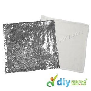 Cushion Cover (Square) (Sparkling Silver) (40 X 40cm)