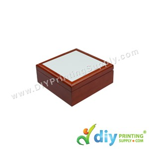 Ceramic Tile With Jewellery Box (11cm X 11cm)