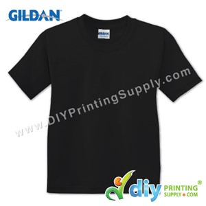 Gildan Cotton Tee (Round Neck) (Black) (L) (180Gsm)