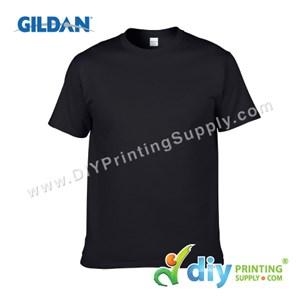 Gildan Cotton Tee (Round Neck) (Black) (XS) (180Gsm)