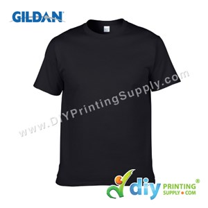 Gildan Cotton Tee (Round Neck) (Black) (XS) (180Gsm)